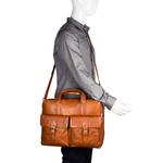 Indigo 02 E. I Briefcase,  tan