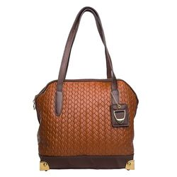 Selene 01 Handbag,  tan brown, woven