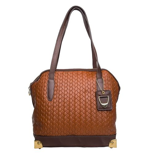 Selene 01 Handbag, woven,  tan brown