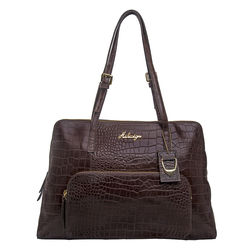 109 02 Women's Handbag, Croco,  brown