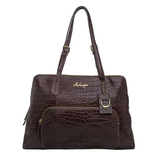 109 02 Women s Handbag, Croco,  brown
