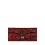 Harper W1 Women s Wallet Croco,  dark red
