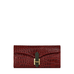 Harper W1 Women's Wallet Croco,  dark red