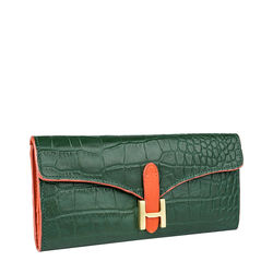 Harper W1 Women's Wallet Croco,  emerald green