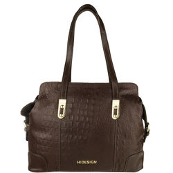 Harajuku 01 Women's Handbag, Baby Croco Melbourne,  brown