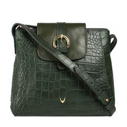 Sb Lyra Women's Handbag Croco,  emerald green