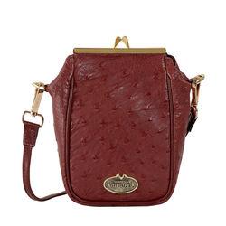 Argonne Women's Handbag Ostrich,  brown