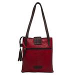 Sb Silvia 01 Women s Handbag, Snake Ranchero,  red