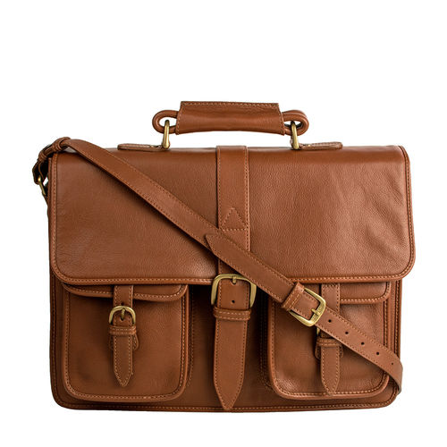 Castello Briefcase,  tan, ranchero