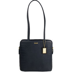 Kirsty Women's Handbag, Croco,  midnight blue