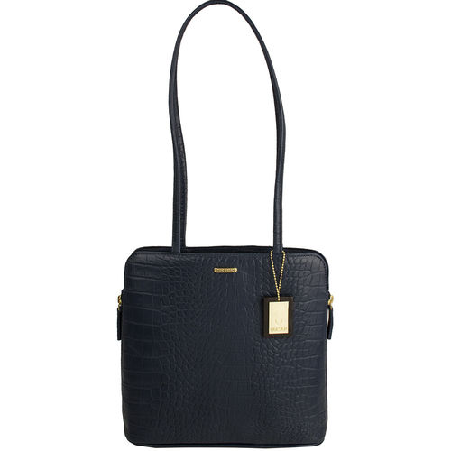 Kirsty Women s Handbag, Croco,  midnight blue