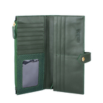 Hong Kong W1 Sb (Rfid) Women s Wallet, Lizard,  emerald green
