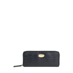 Claea W2 (Rfid) Women's Wallet, Cement croco,  black