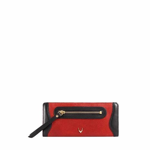 HIDESIGN X KALKI BOSS W2(RFID) WOMEN S WALLETS WAXED SPLIT,  red