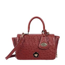 Azur Women's Handbag Ostrich,  brown