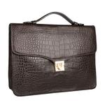 Stampa 03 Women s Handbag, Croco Melbourne Ranch,  brown