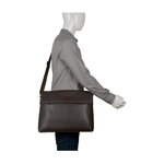 EE PLUTO 01 MESSENGER BAG REGULAR PRINTED,  brown
