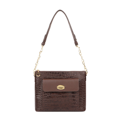 EE MOROCCO 01 WOMENS HANDBAG CROCO,  brown