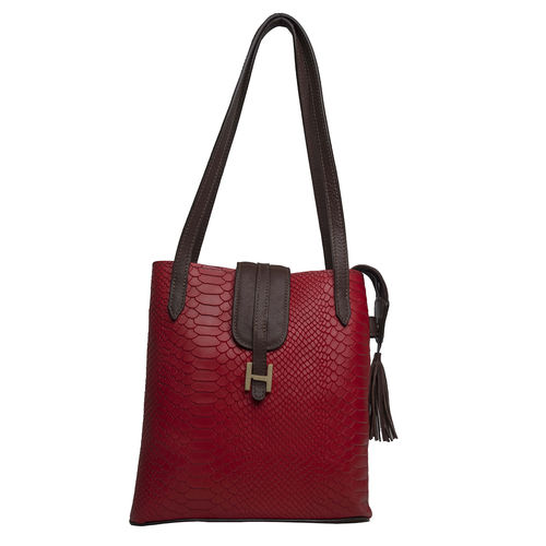 Sb Silvia 01 Women s Handbag, Snake Ranchero,  red