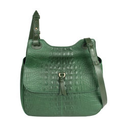 Fleur 02 Women's Handbag, Baby Croco Melbourne Ranch,  emerald green