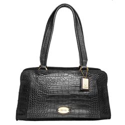 Orsay 03 Women's Handbag, croco,  black