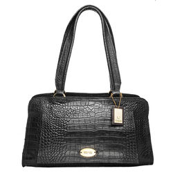 Orsay 03 Handbag, croco,  black