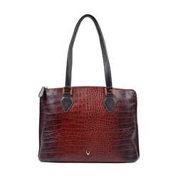 Scorpio 02 Sb Women's Handbag, Croco Melbourne Ranch,  red