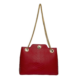 Sb Aliya 01 Women's Handbag, Snake,  red