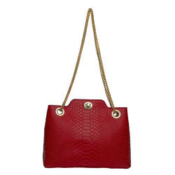 Alya 01 Women's Handbag Snake,  red