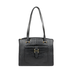 LOTUS 02 SB WOMENS HANDBAG CROCO,  black