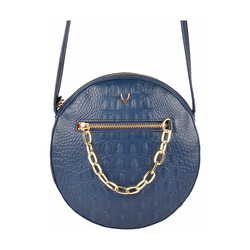CHARLESTON 04 WOMEN'S HANDBAG BABY CROCO,  midnight blue