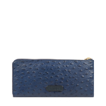 ROMANCE W1 RF WOMENS WALLET OSTRICH EMBOSSED,  midnight blue