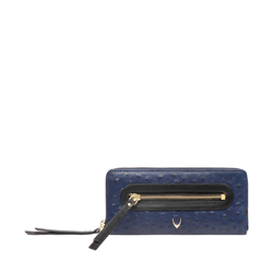 JAZZ W2 (RFID) WOMEN'S WALLET OSTRICH EMBOSS,  midnight blue