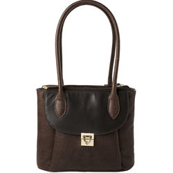 Tabit 02 Handbag, lizard,  brown