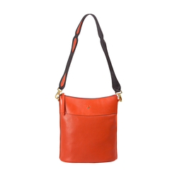 DANCING 01 WOMEN'S SHOULDER BAG, PERFORATED MELBOURNE RANCH,  lobster