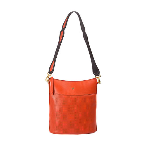 Hidesign X Kalki Dancing 01 Women s Shoulder Bag, Perforated Melbourne Ranch,  lobster
