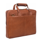 Socrates 01 Brief Case, E. I. Goat,  tan