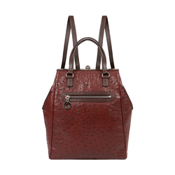 JAZZ 01 WOMEN'S BACKPACK OSTRICH EMBOSS,  marsala