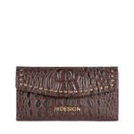 PUNK W3 RF WOMENS WALLET BABY CROCO,  brown