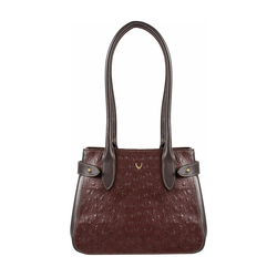 Shanghai 03 Sb Women's Handbag Ostrich,  brown