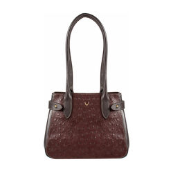 Shanghai 03 Sb Women's Handbag Ostrich,  brown