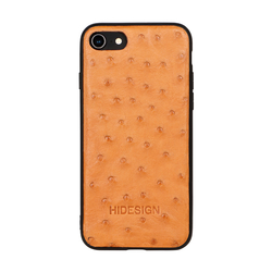 I PHONE 8 MOBILEPHONE CASE OSTRICH,  tan