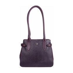 Shanghai 03 Sb Women's Handbag, Snake Melbourne Ranch,  aubergine