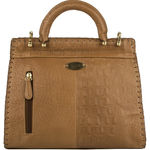 Oxford Street 01 Handbag, baby croco,  tan