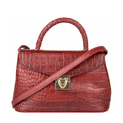 Epocca 03 Women's Handbag, Croco Melbourne Ranch,  red