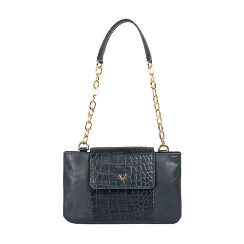 Aquarius 01 Women s Handbag Croco,  midnight blue