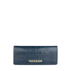 Carly W2 (Rfid) Women's Wallet, Croco Melbourne Ranch,  blue