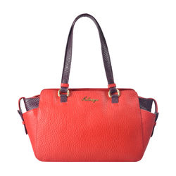 Sb Olivia 01 Women's Handbag Cow Pebble Snake,  red