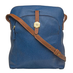 Sb Mensa 02 Women's Handbag, Cement Lizard Ranchero,  blue