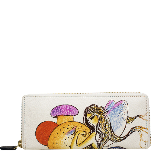 The Mad Hatter Women s Wallet, Cow Deer,  white, cow deer
